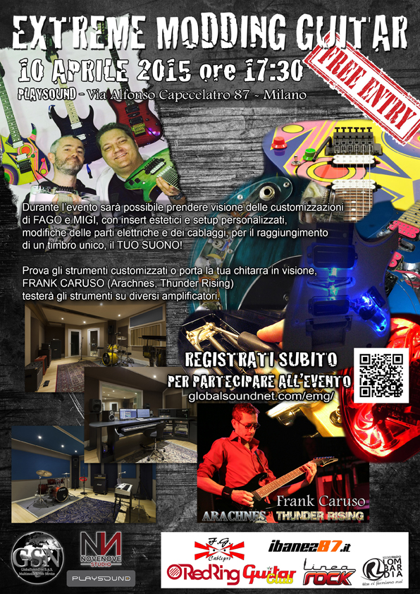 EXTREME MODDING GUITAR con Frank Caruso – Milano 10-04-2015
